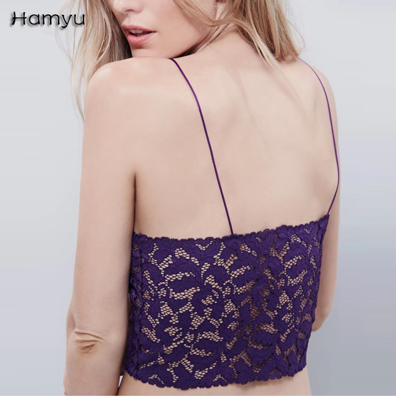 496a109530c25 lace crop top Summer beach backless short halter tops Bra Bustier Crop Top  Blusas Vest Halter Tank Tops Camisole haut femme -in Camis from Women s  Clothing ...