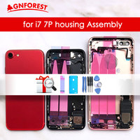 For chassis iPhone 7 Back Housing Battery Cover Rear Door Case For iPhone 7 Plus Back Housing Middle Chassis frame with flex