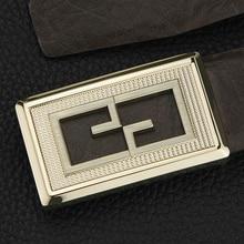 High Quality black G belts mens Upscale full grain leather Waistband genuine fashion Waist Strap formal ceinture homme