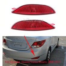 Rear Bumper Reflector Brake Light For Hyundai Accent/Verna/Solaris 2008-2015 For Brio LED Bulbs Tail Light Car Warning Stop Lamp
