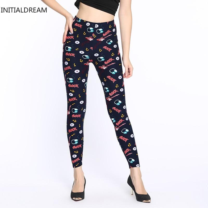 2018 new summer/spring print cotton Womens Printed Leggings Skinny Pants Vintage Legging high stretch jeans legging female pant