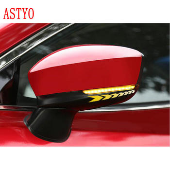 ASTYO For Mazda 3 Axela Mazda 6 Atenza 2017 -2019  LED Side Wing Rearview Mirror Indicator Blinker Dynamic Light Lamp