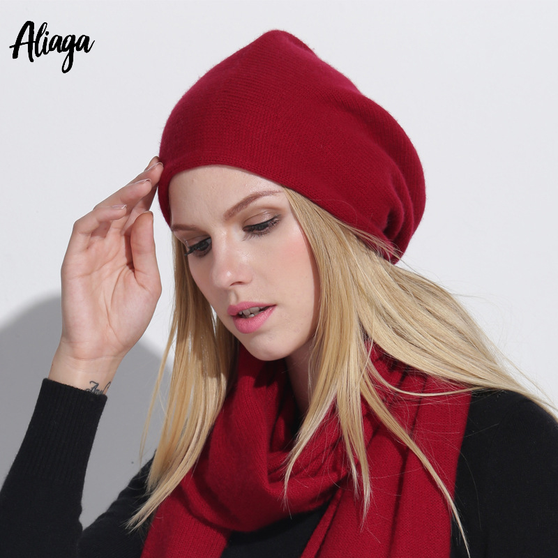 597f874cea9 High Quality 100% Goat Cashmere Hat Men And Women Autumn Winter New Fashion  Knitted Soft
