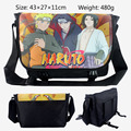 2017 Cartoon Bag Uzumaki Naruto Uchiha Sasuke Messenger Canvas Bag Shoulder Travel Bag Sling Pack School Bags