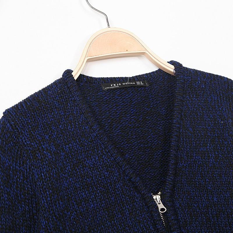 WST342# Women Colored Wool Navy Blue Knitwear Cardigan Sweaters ...