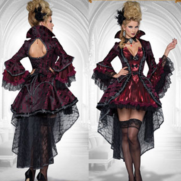vampire cosplay costumes luxury evil queen dress for adult deluxe tuxedo halloween costumes for women masquerade
