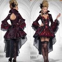 Vampire cosplay costumes Luxury evil queen dress for adult deluxe Tuxedo halloween costumes for women Masquerade cosplay dress