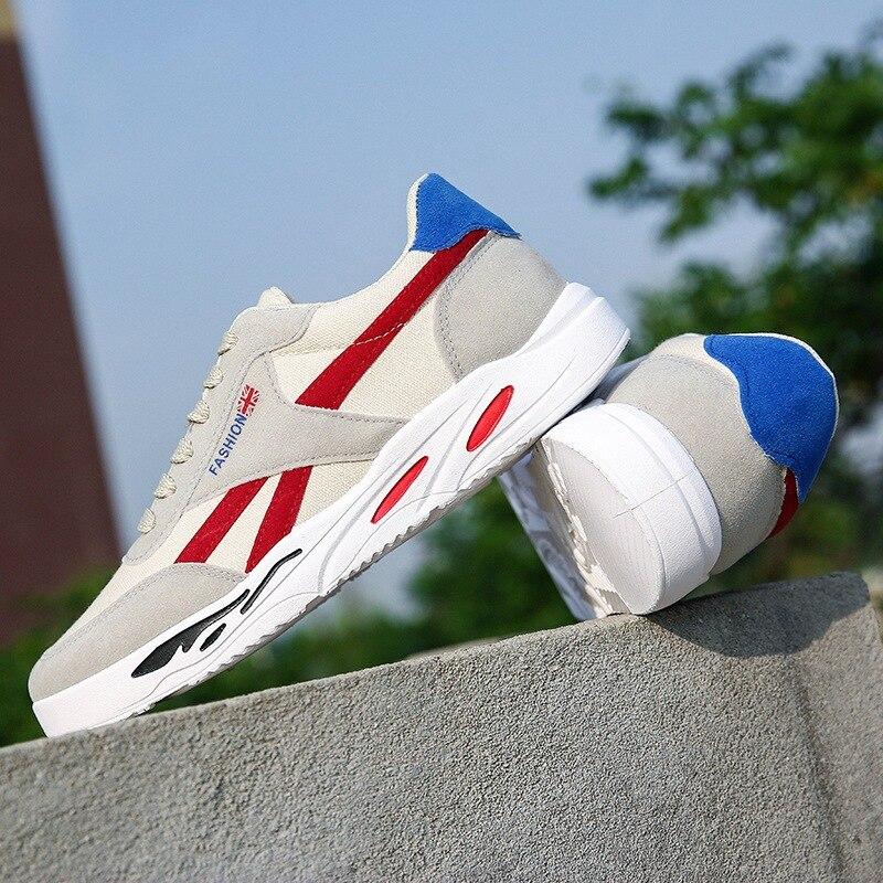 Sapatos Homens Up Dos Lona Preto Sólidos Moda Rasos Baixa verde Costura Casuais Respirável Vulcanize Outono Lace vermelho Sneakers De Lazer Primavera fwgqxpAw