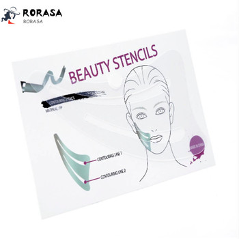 1pcs Face Contour Stencil Card Eyebrow Eyeliner Eyeshadow Makeup Template Stencils Multifunction Makeup Model Tool Maquiagem