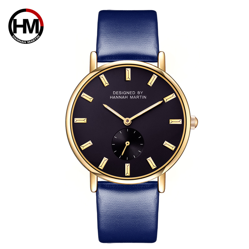Fashion Women Watches Quality Quartz Wrist Watch Female 38mm Dial Band Leather Clock Top Hannah Martin Brand Hour With Box Gift top quality women s exquisite commercial watches quartz clock white black ceramic watch lady new longbo brand gift wrist watches