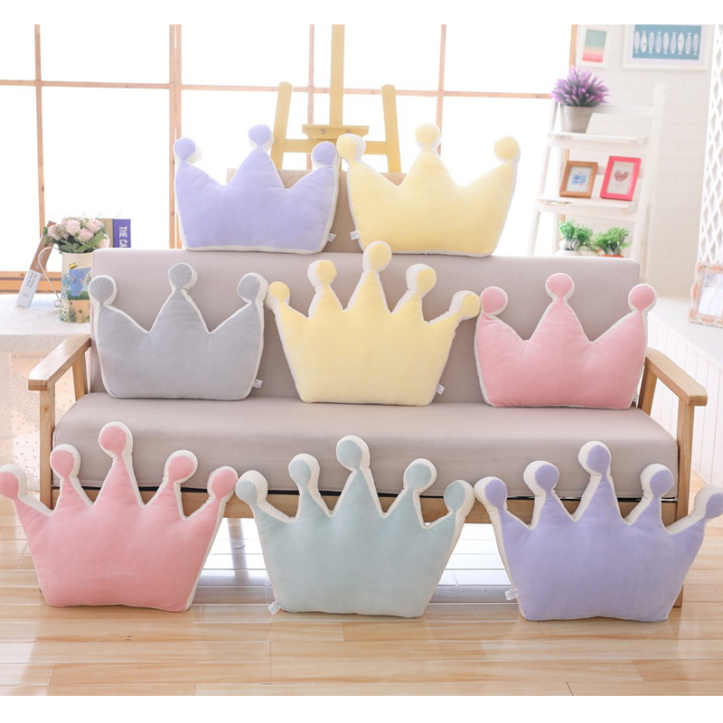 Cilected 1Pc Living Room Sofa Crown Cushion Bedroom Bedding Pillow Office Nap Cushion Home Decoration Birthday Gift Plush Toy