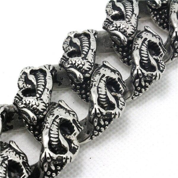 Mode 256g énorme Bracelet Dragon Chiness lourd pour homme 316 en acier inoxydable offre spéciale Bracelet Dragon volant populaire en Promotion - 3