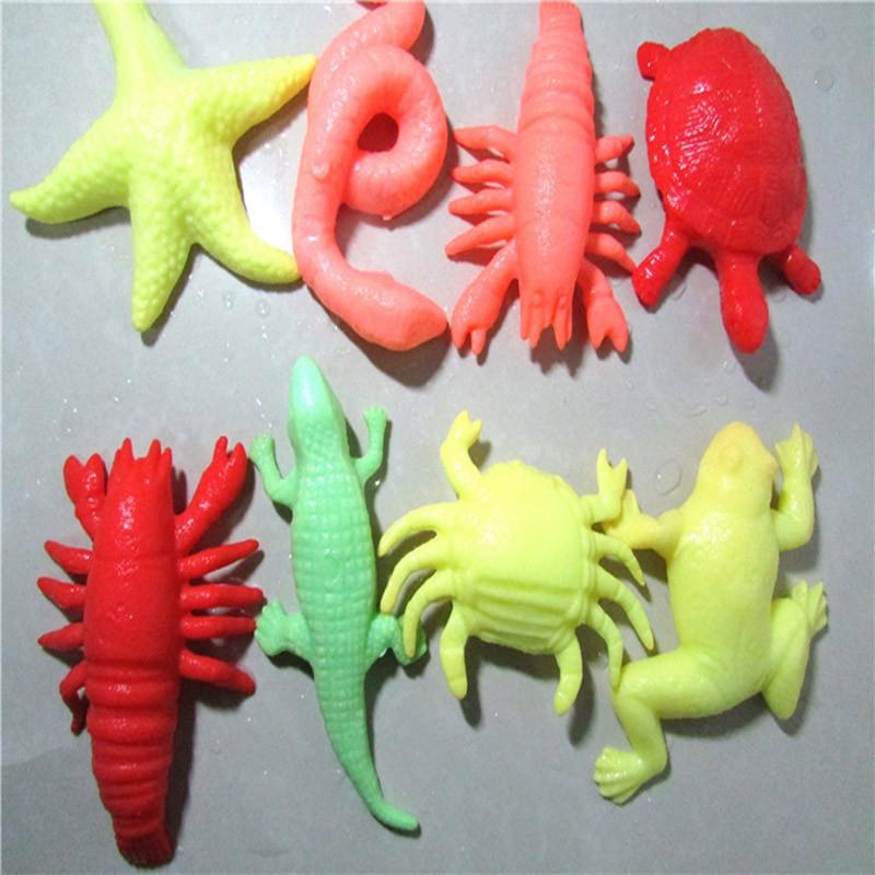 10pcs/lot Ocean Animal Growing Toy Marine Biology Toys Sea Animals Toy Magic Soaking Epansion Swelling In Water