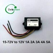 15 V 72 V Naar 12V 1A Om 5A 24V36V48V60V Dc Dc Converter Regulator Auto Step Down Reducer buck Converter Voeding Gratis Verzending