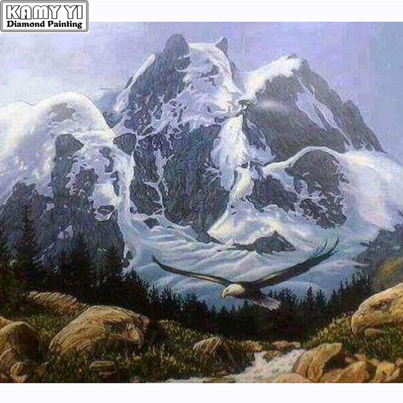 5d Diy Diamond Painting Bear Mountain Embroidery 100 Full