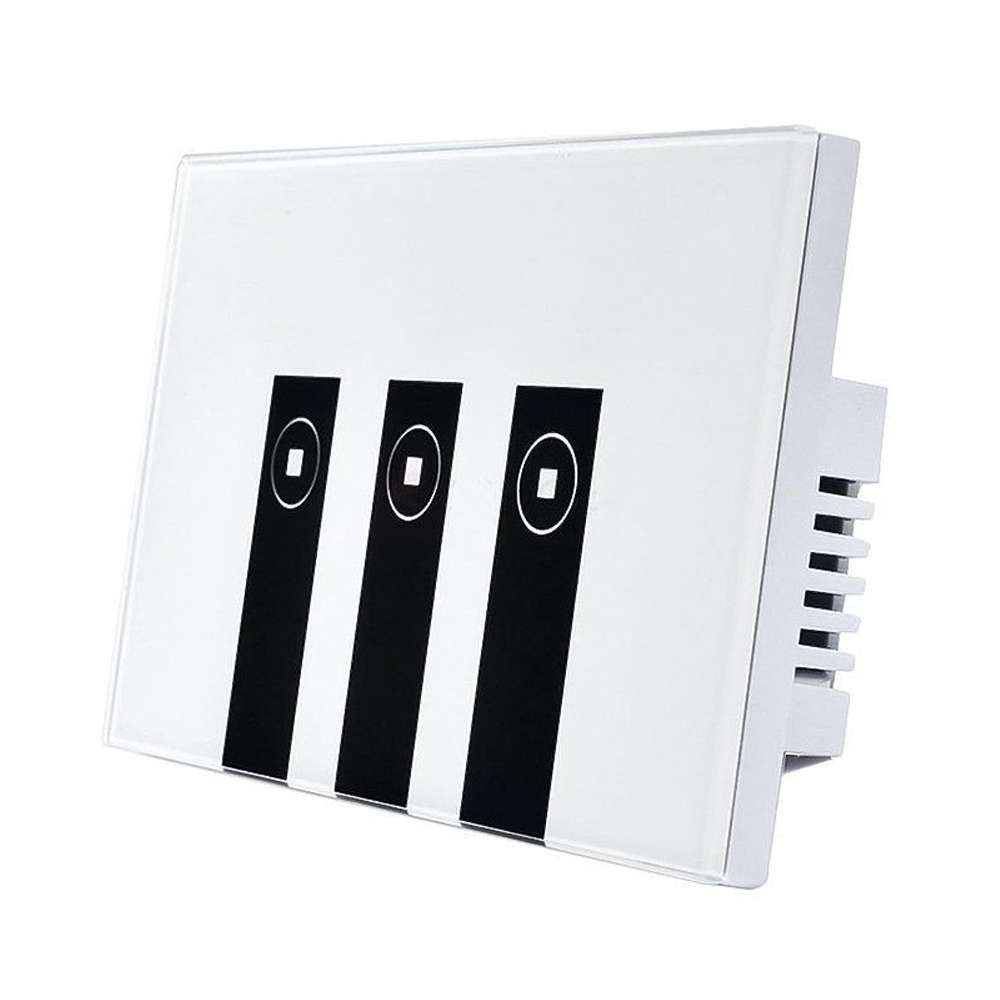 цена на Hot Sale WiFi Smart Alexa Light Switch, 3 Gang Touch Wall Plate Light Switch Panel
