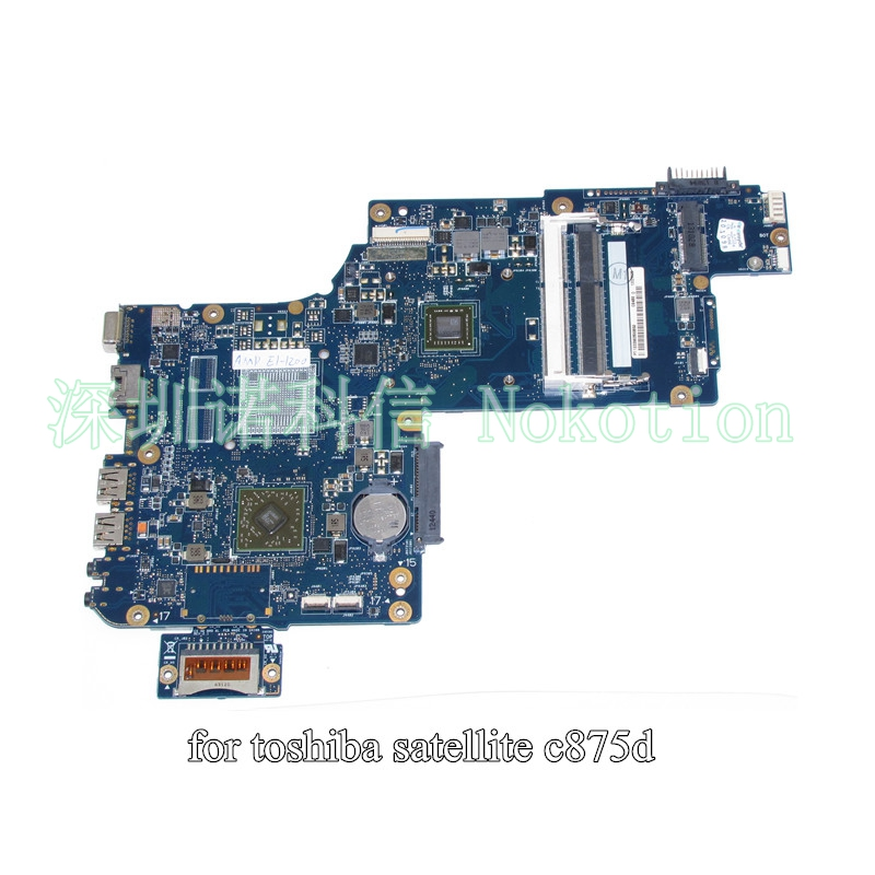 H000043630 For toshiba Satellite C875 C875D laptop motherboard 17.3 inch EM1200 AMD CPU onboard Mainboard