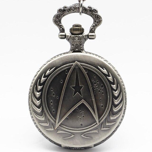 Antique Bronze pocket watch necklace Long Chain Quartz Watch Pendant Mens Hour Relogio De Bolso