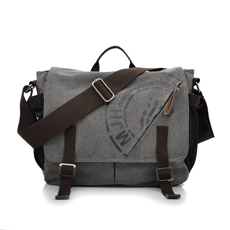 Manjianghong Men Leisure Canvas Messenger Bag