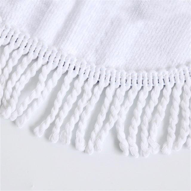 FLOWER SKULL ROUND BEACH TOWEL (10 VARIAN)