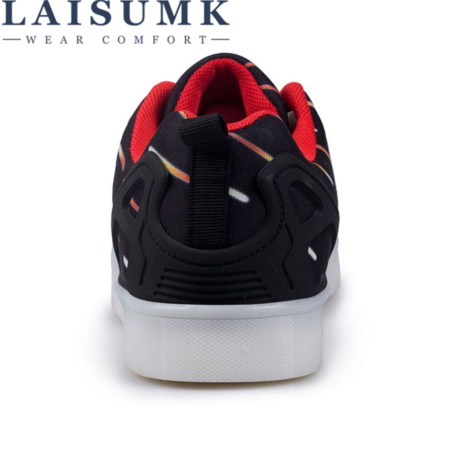 Zapatos Negro Usb Laisumk Led Unisex Ocasionales 11 Intensamente Zapatillas Colores Carga Que Brilla 2019 Ligeros az61wxTnq