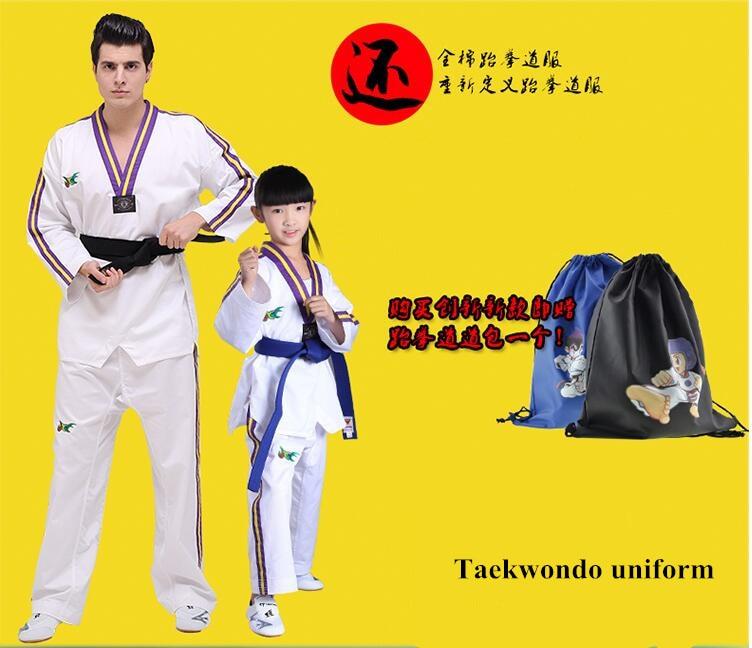 Ny stil Original voksen børn Bomuld Blød Taekwondo Uniform - Sportsbeklædning og tilbehør - Foto 3