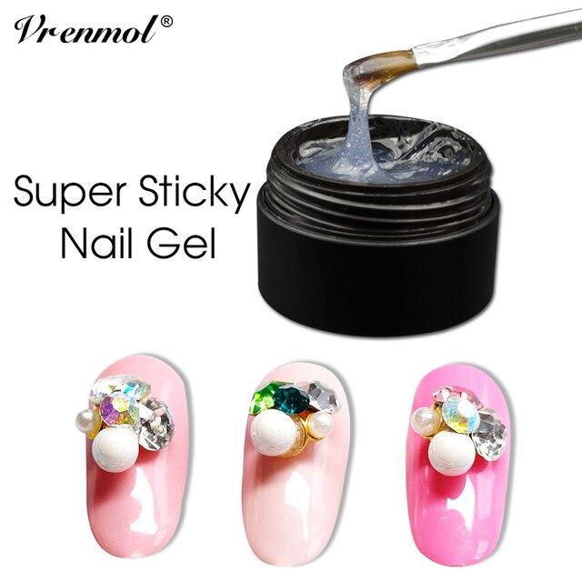 7e4369bfa5 US $1.55 |Aliexpress.com : Buy Vrenmol UV Gel Adhesives Super Sticky Nail  Art Rhinestone Glue Use for Nail Tips Decoration Jewelry Garment Makeup  Nail ...