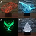 Pokemon Valor diy Aircraft Beetle Car Snow-capped mountains 3D Night Lights warplanes Fighter Table lamp Colorful bedside lamp