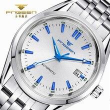 FNGEEN יוקרה גברים שעונים עצמי Winding Tourbillon שעוני יד תאריך באיכות גבוהה עמיד למים אוטומטי Hodinky מכאני שעונים
