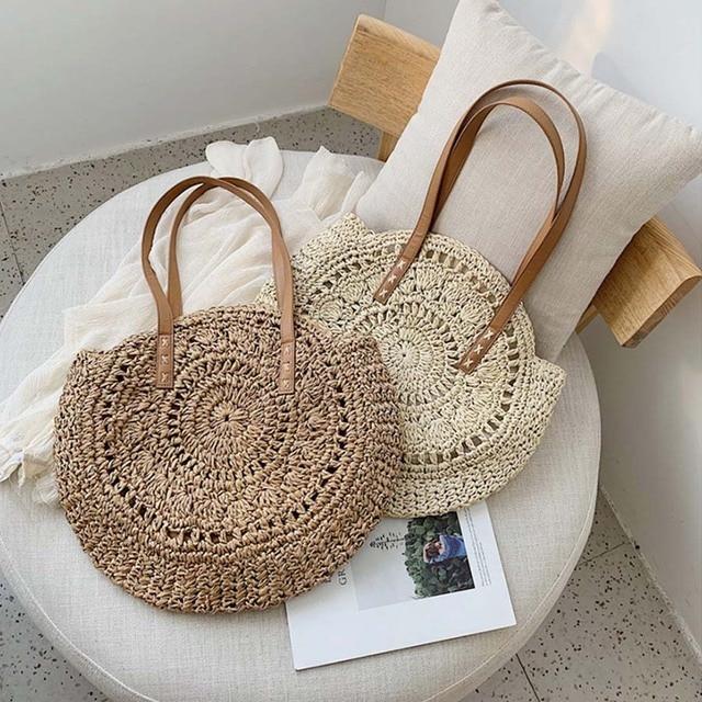 Handmade Rattan Women Shoulder Bags  4