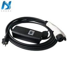 Khons SAE J1772 EVSE электрический автомобиль EV зарядное устройство с Schuko штекер 8A 10A 16A Регулируемый 16ft кабель EV портативный зарядный разъем