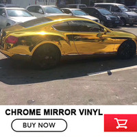 OPLARE 1.52m*20m Car Auto Vehicle Mirror Metallic Chrome Wrapping Wrap Sticker Decal gold Gloss Foil Vinyl Wrap Cover