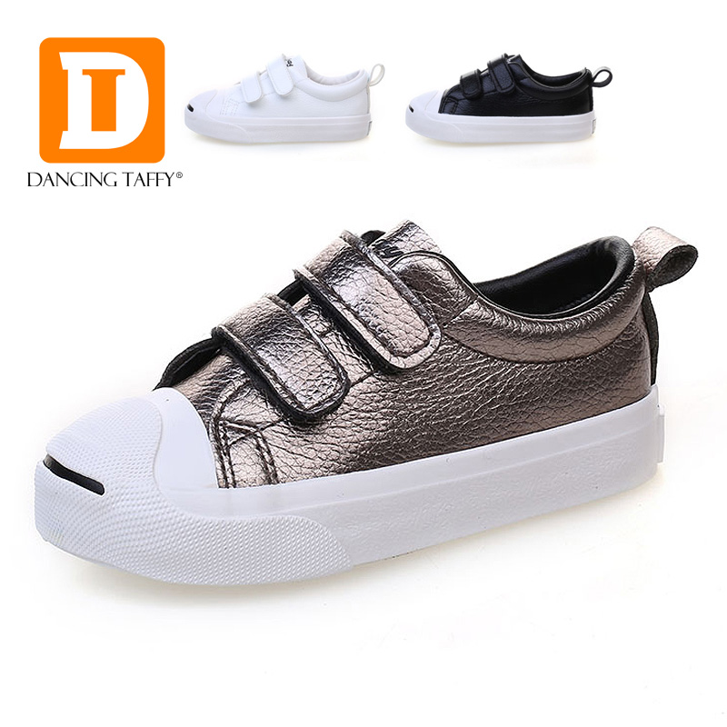 New PU Leather Rubber Children Shoes Autumn Spring Solid Hook Loop Casual Kids Shoes Unisex School Student Boys Girls Sneakers