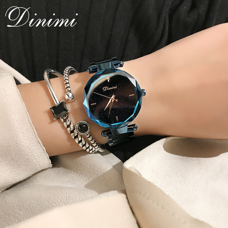 Dimini Fashion Luxury Women Watches Lady Watch Quartz Wrist Watch Stainless Steel Gold Ladies Watches Dropshipping