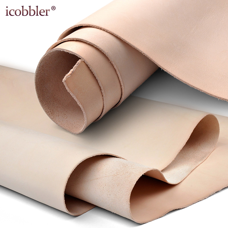 2mm Thick High Quality Leather Side Piece Veg Tan Leather Hides, Vegetable Collection, Natural Genuine Cow Skins 1sq Ft-6 Sq.ft