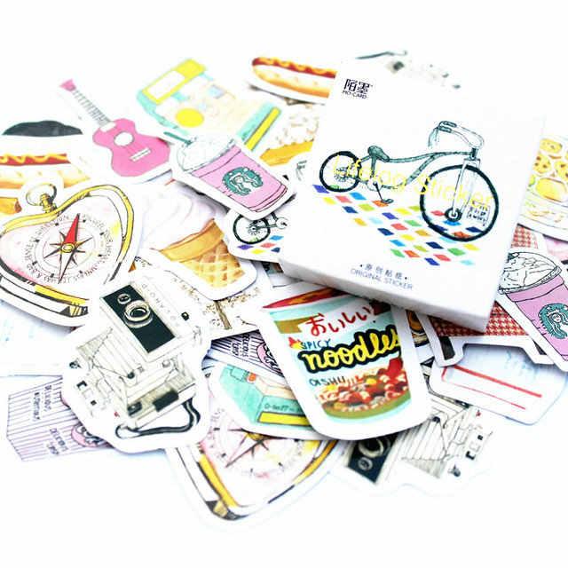 40 قطعة/المجموعة كعكة اليابانية مذكرة ملصقات مذكرات ملصقات نشر Kawaii مخطط سكرابوكينغ القرطاسية اللوازم المدرسية اجتماعيون