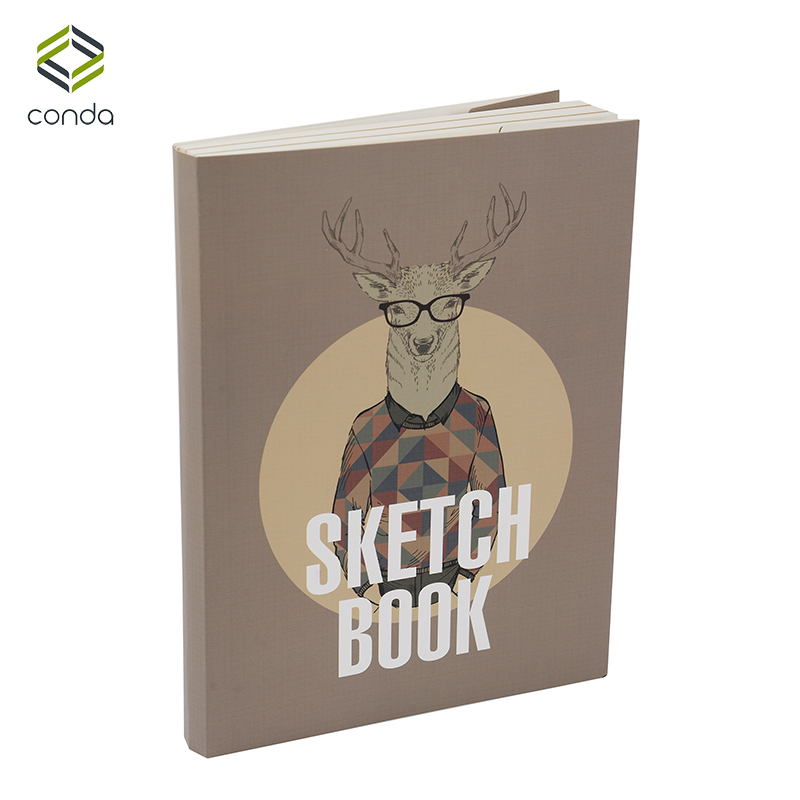 Conda Animal Pattern Sketchbook 16K Drawing Illustration Sketch Book Blank Pages Kraft Pages Notebook for Color Pencil Painting