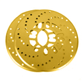2 шт./компл. Авто Алюминий сплав задние барабанные лист колесного диска пластина крышка модификации 26 см автомобильный тормоз