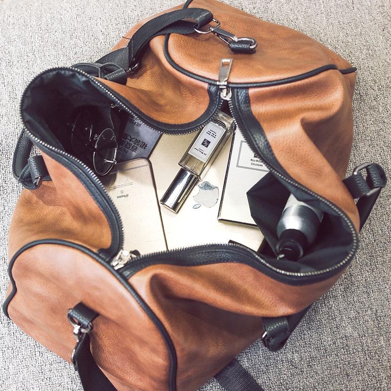 PU läder resväskan snygga kvinnor casual handväska män resväskor - Väskor för bagage och resor - Foto 5