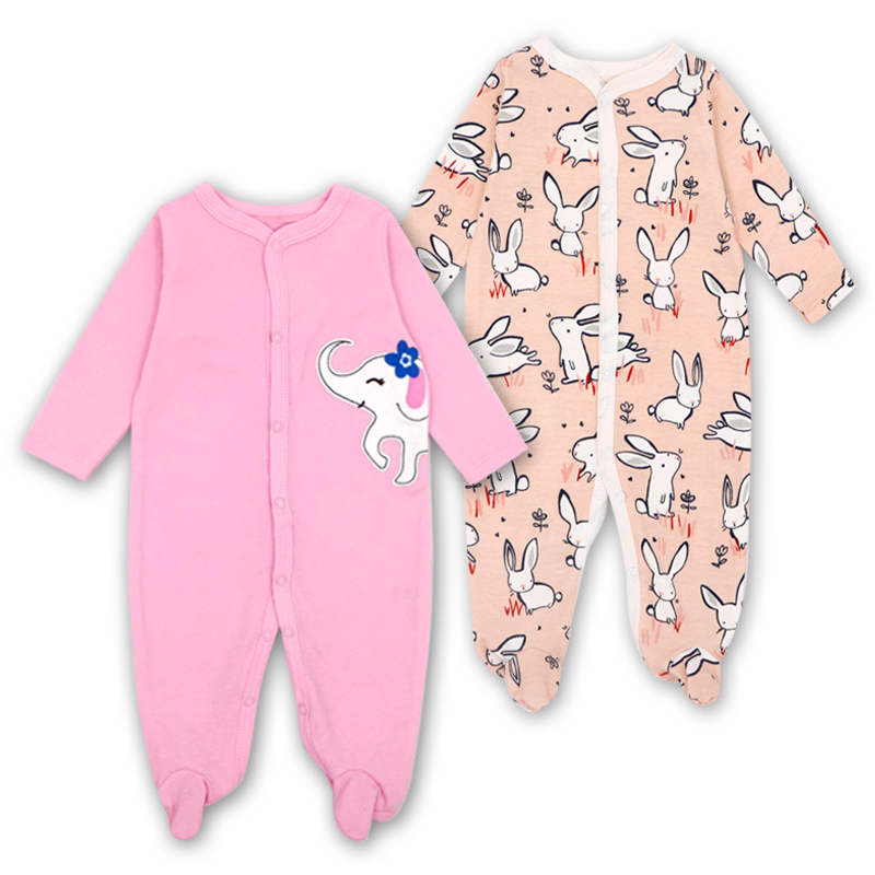 Image 5 - Newborn Baby Boys Girls Sleepers Pajamas Babies Jumpsuits 2 PCS/lot Infant Long Sleeve 0 3 6 9 12 Months Clothes-in Blanket Sleepers from Mother & Kids