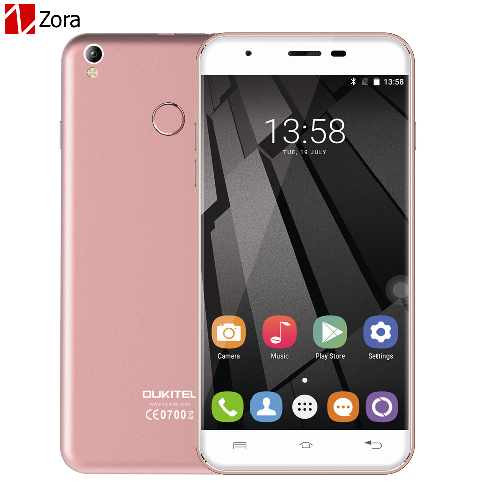Oukitel U7 Plus Quad Core MTK6737 4G Smartphone 5.5 Inch Android 6.0 RAM 2GB ROM 16GB <font><b>Cellphone</b></font> Dual SIM Ultra Slim Mobile phone
