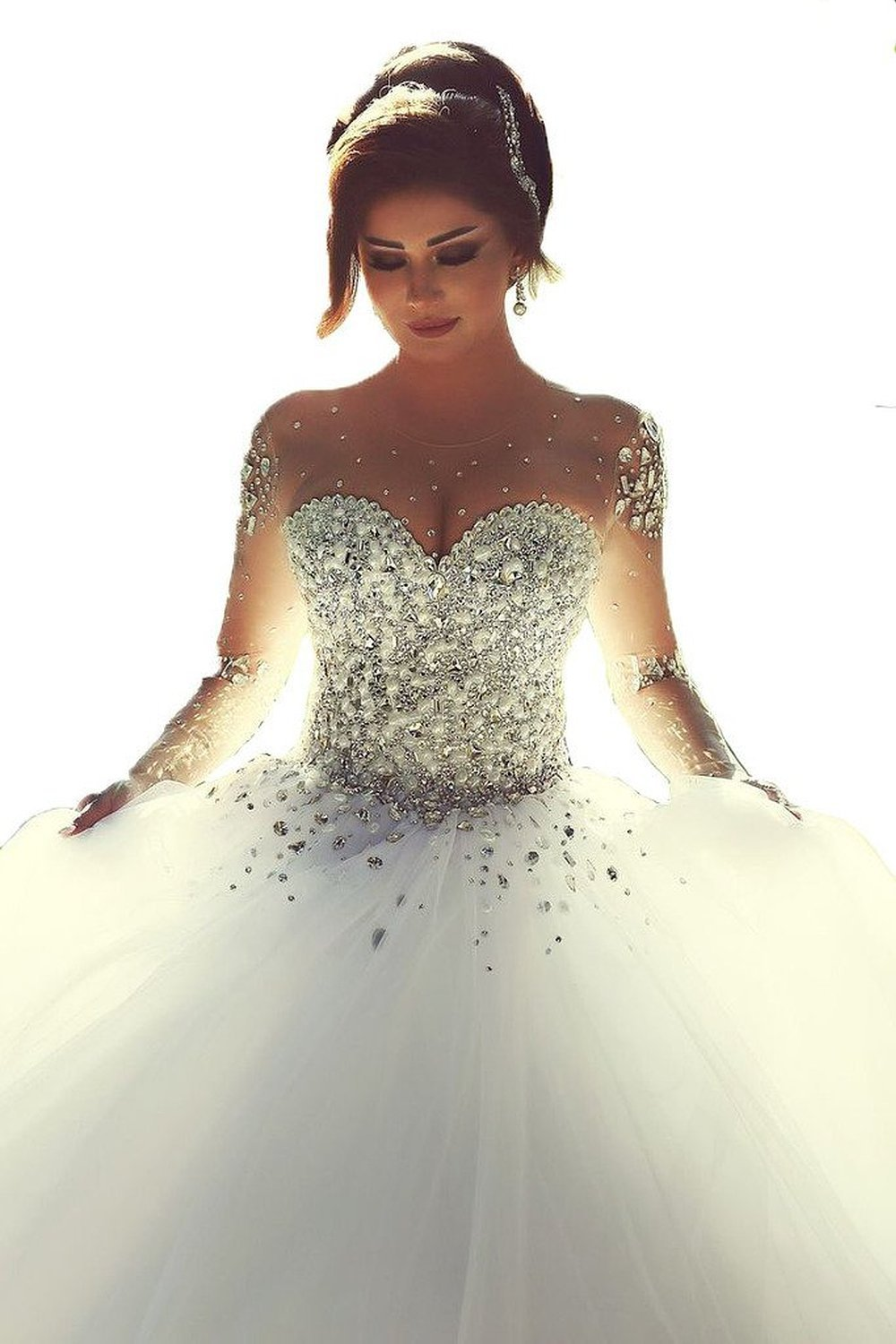 Fine Sequin Ball Gown Wedding Dress Motif - Images for wedding gown ...