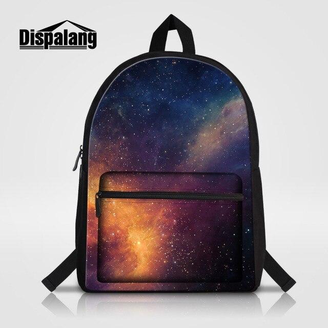 Dispalang Multicolor Mulheres Mochilas Galaxy Estrelas Universo Espaço de  Algodão Sacos de Escola Para Os Homens f12ff9d1ad
