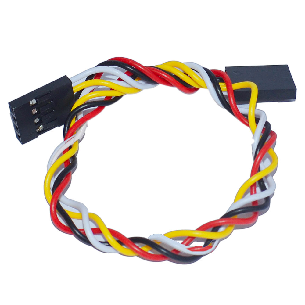 Free shipping! 10pcs / lot Keyestudio 4pin F-F Dupont Line/ Dupont Cable 2.54 Long20cm
