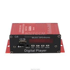 Image 3 - NKTECH NK G8 Car Power Amplifier Bluetooth Digital Player Audio 2CH 18W RMS Music Speaker IR Hi Fi Stereo FM USB TF MP3 MINI AMP