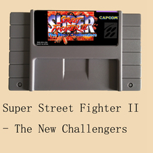Super Street Fighter II The New Challengers 16 bit Big Gray Game Card For USA NTSC Game Player