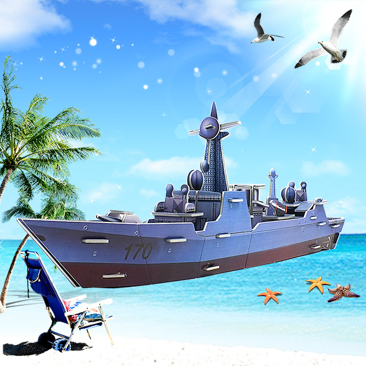 3D Puzzle DIY Model Kids Toy Military Style Warship Puzzle Cruise Ship puzzle 3d building puzzles Gift For Children