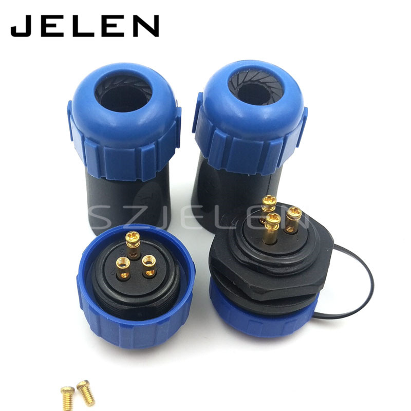 SP2110,waterproof Connector 3 pin, No need to weld , outdoor power link wire connectors,LED connection cable plug and socket weipu sp2110 waterproof 3 pin connector plug socket power connector industrial power supply wire and connector ip68
