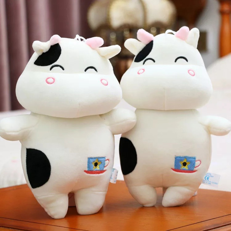 Cute Cow Animal Dolls 25 Cm Soft Plush Toys High Quality Soft PP Cotton Lovely Birthyday Gift For Children Cushion Toy