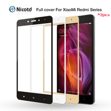 2pcs/lot HD Colorfull Full Cover Tempered Glass For Xiaomi Redmi 4 Pro Prime 4A 4X 3X 3S Screen Protector For Redmi Note 3 4 4x
